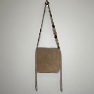 Aldo Boho genuine suede fringed shoulder mini bag
